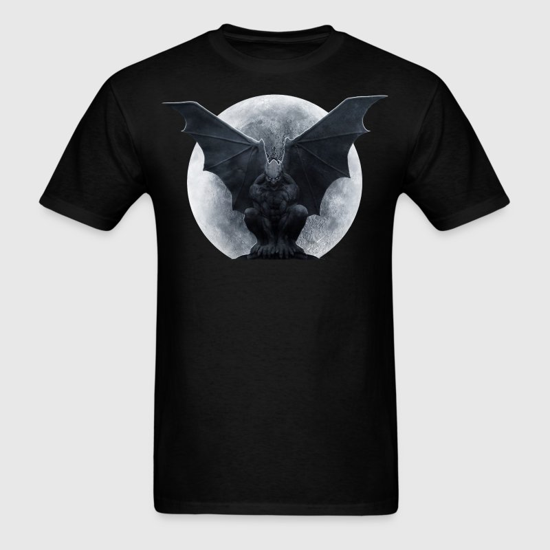 gargoyle and the moon - Men's T-Shirt