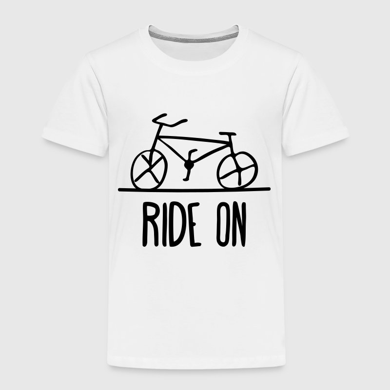 bicycle ride on bike cycle wheels drawing cycling  Baby & Toddler Shirts - Toddler Premium T-Shirt