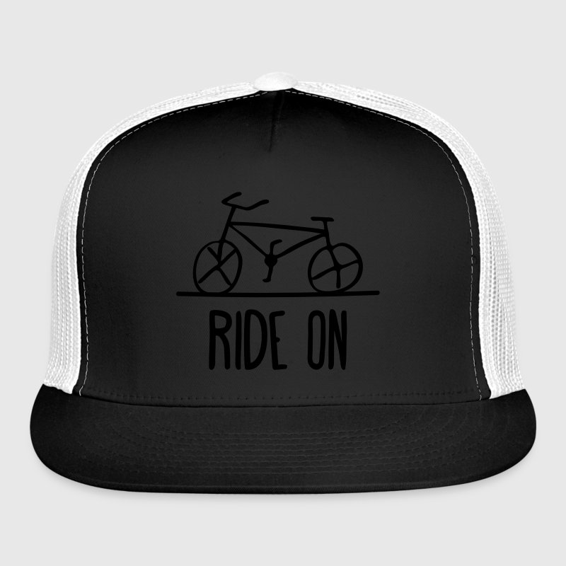 bicycle ride on bike cycle wheels drawing cycling  Sportswear - Trucker Cap