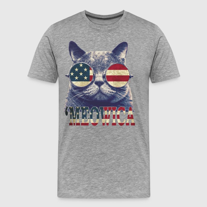 4th of July 'MEOWICA T-Shirts - Men's Premium T-Shirt