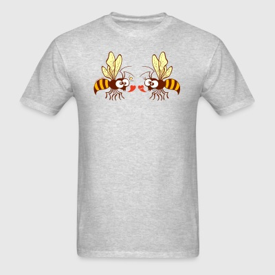 Bees expressing opposite points of view about love Sportswear - Men's T-Shirt