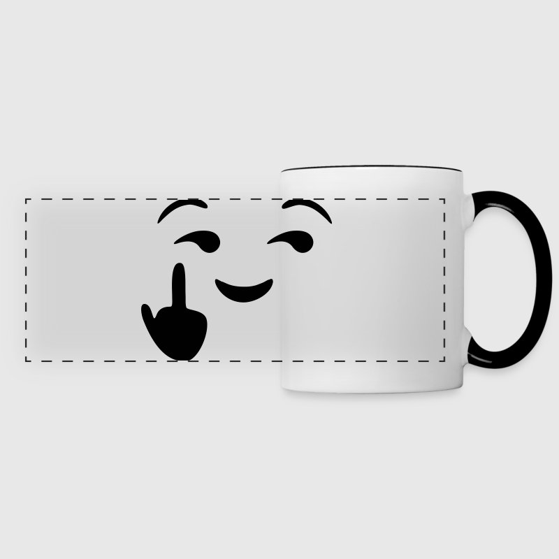 Fuck you  - emoticon - smiley Mugs & Drinkware - Panoramic Mug