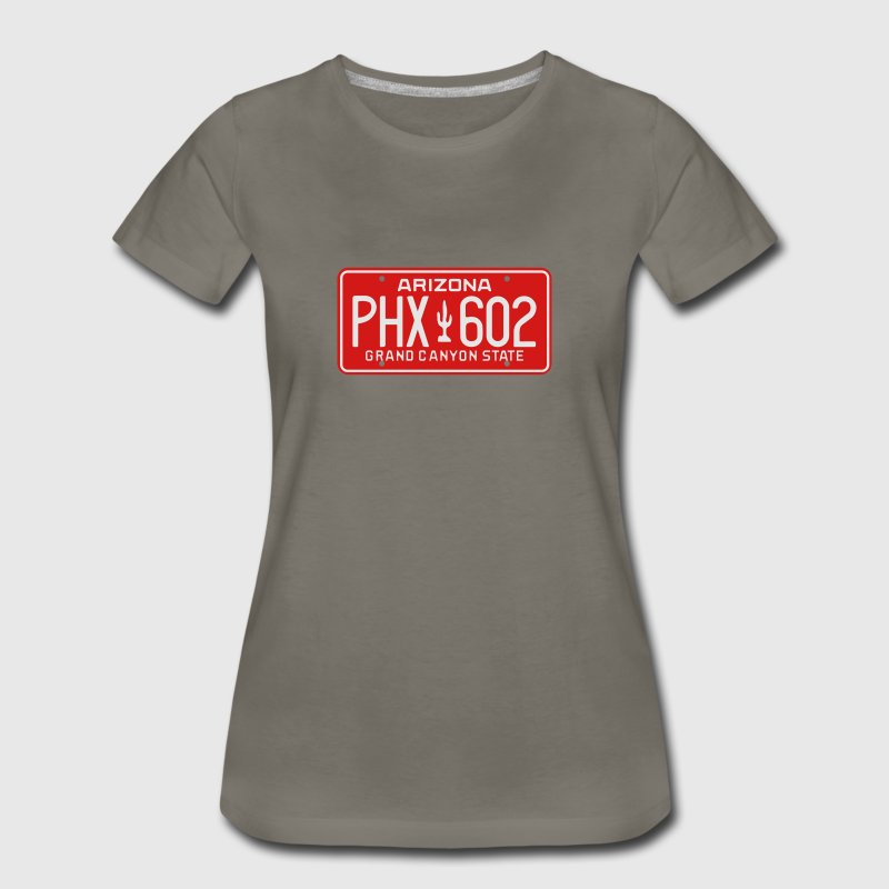 Retro Phoenix Arizona License Plate T-Shirt - Women's Premium T-Shirt