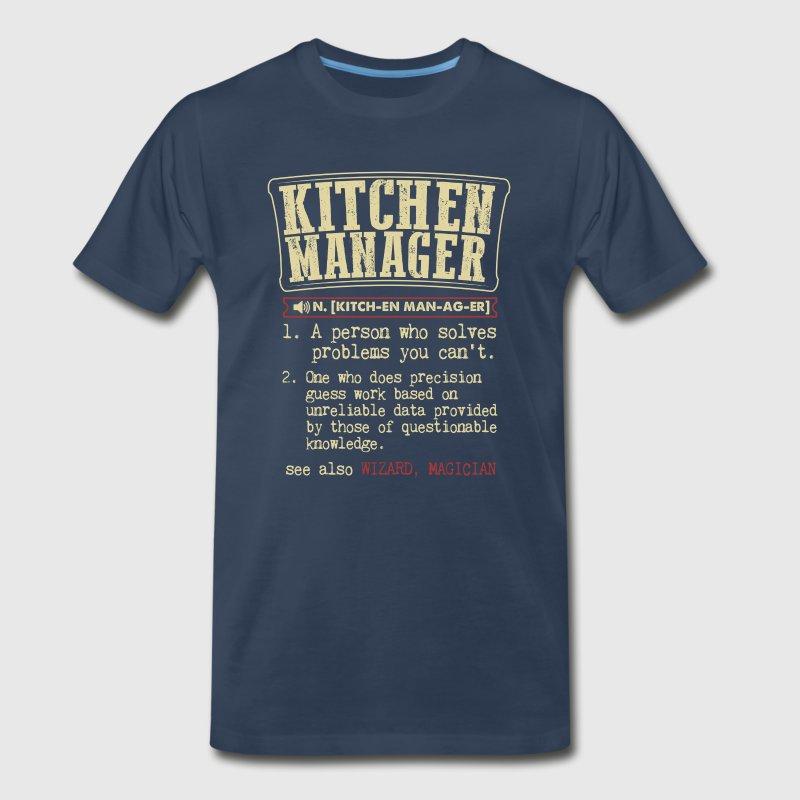 Kitchen Manager Badass Dictionary Term T-Shirt T-Shirt | Spreadshirt