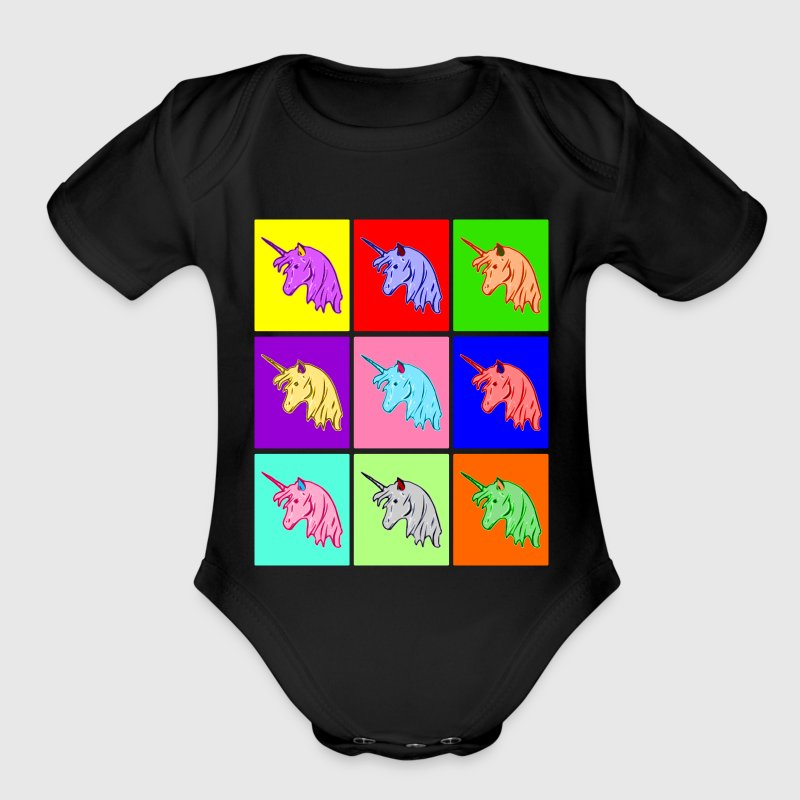 Pop Art Unicorn Baby Bodysuits - Short Sleeve Baby Bodysuit