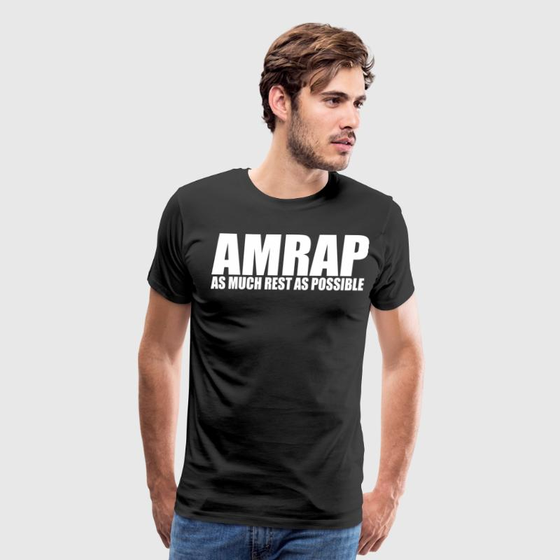 AMRAP (As Much Rest As Possible) T-Shirts - Men's Premium T-Shirt