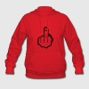 fuck you, middle finger Hoodies - Women's Hoodie