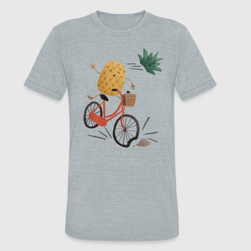 Pineapple Bike Obstacle T-Shirts - Unisex Tri-Blend T-Shirt by American Apparel