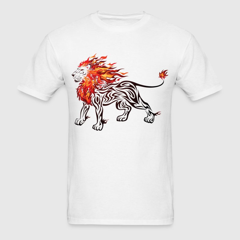 lion in flames - Men's T-Shirt