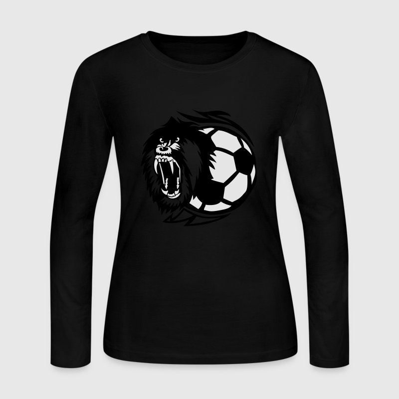 open soccer logo monkey mouth Long Sleeve Shirts - Women's Long Sleeve Jersey T-Shirt