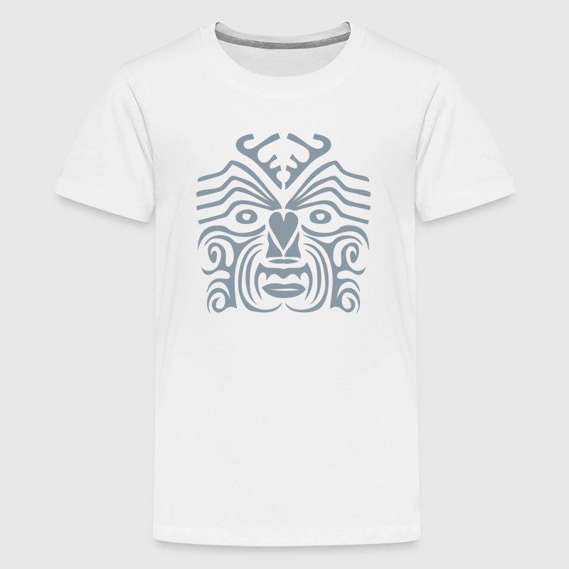 Maori tribal tattoo mask 9 ethnic mask t shirt spreadshirt for Tribal tattoo shirt