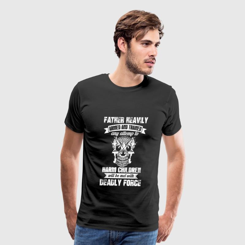 Harm children will be met with deadly force - Men's Premium T-Shirt