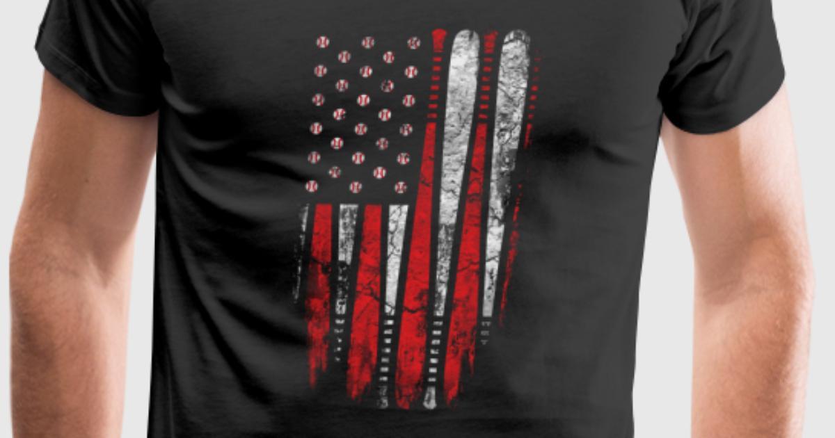 Baseball Baseball Flag T Shirt For Baseball Lover T Shirt