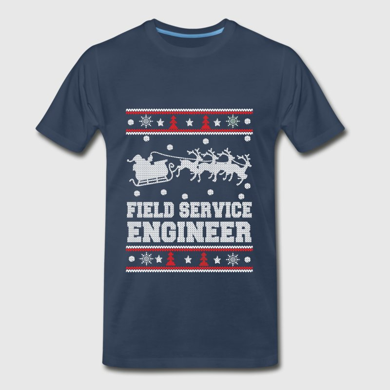 Field service engineer-chrismast awesome sweater - Men's Premium T-Shirt