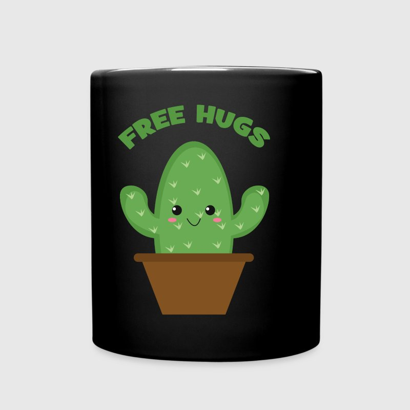 Free Hugs (Cute Cactus) Mugs & Drinkware - Full Color Mug