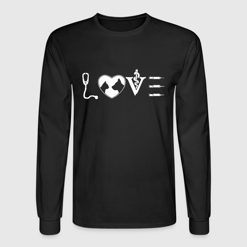 Love Vet Tech Shirt - Men's Long Sleeve T-Shirt