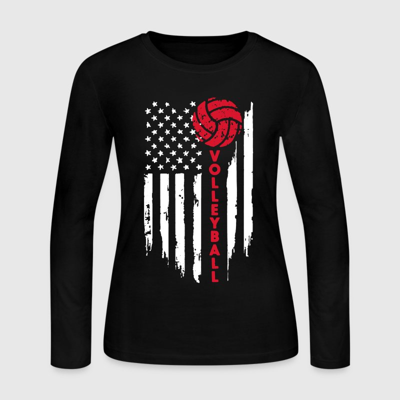 Volleyball Flag Shirt - Women's Long Sleeve Jersey T-Shirt