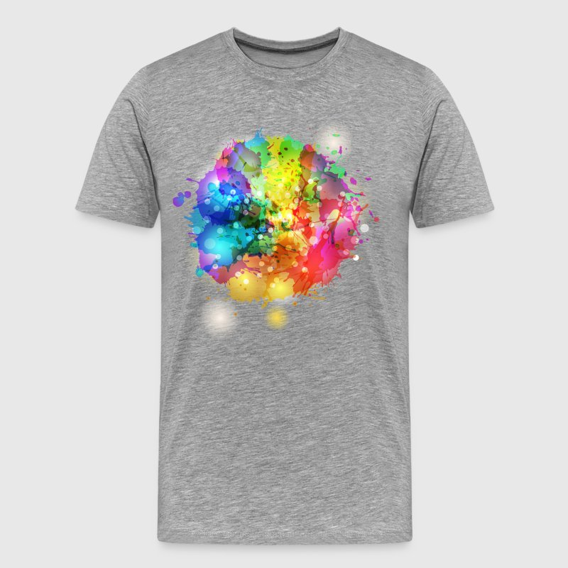 Splash watercolor blots a - Men's Premium T-Shirt