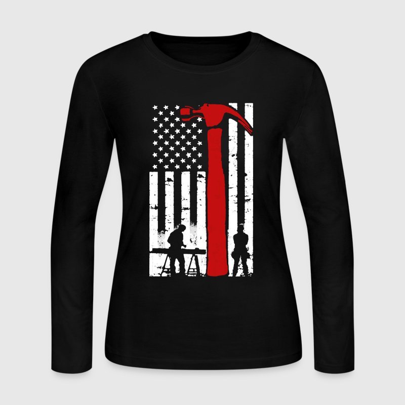Carpenter Flag Shirt - Women's Long Sleeve Jersey T-Shirt
