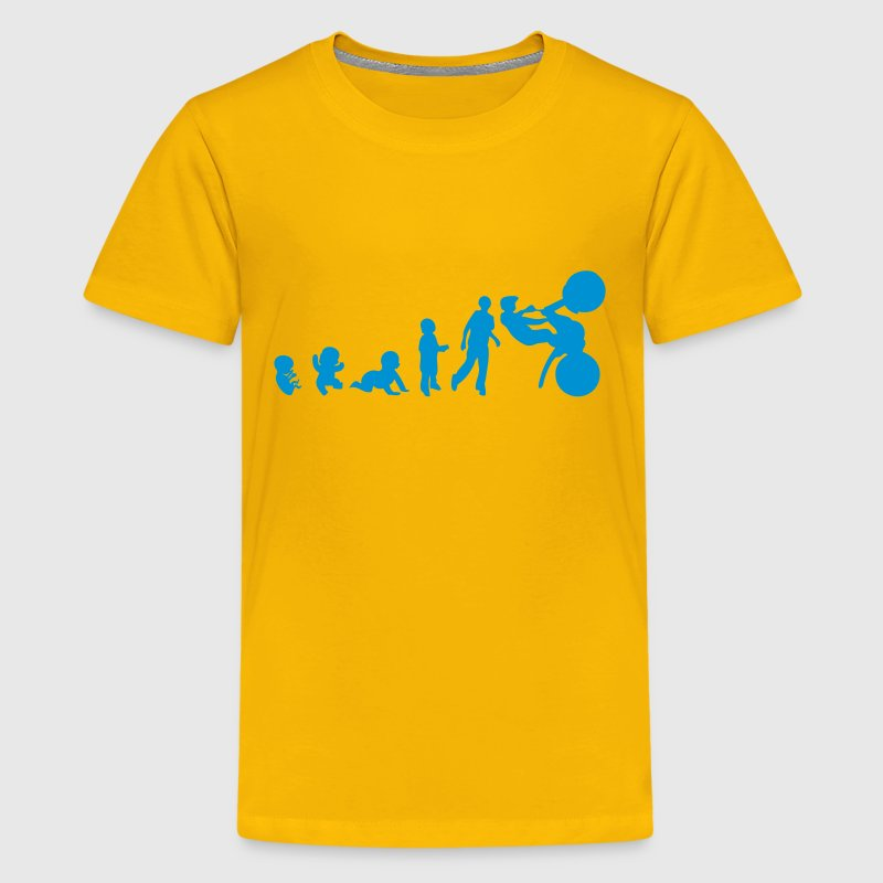 human evolution sports trial Kids' Shirts - Kids' Premium T-Shirt