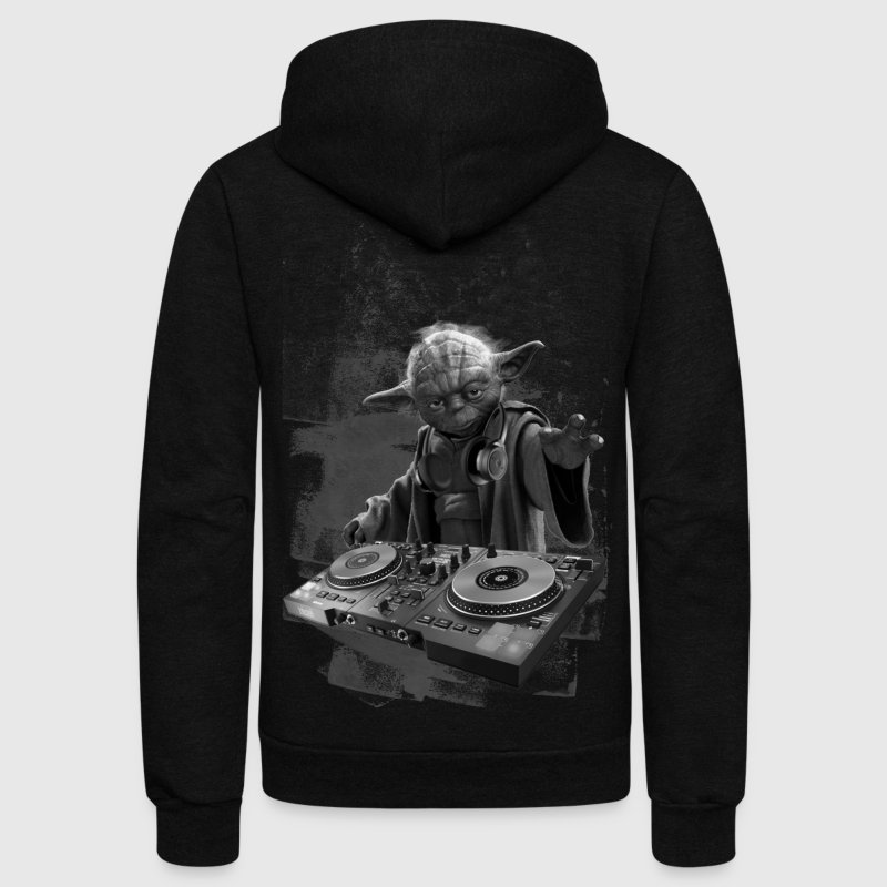 YODA DJ PARTY - Unisex Fleece Zip Hoodie by American Apparel
