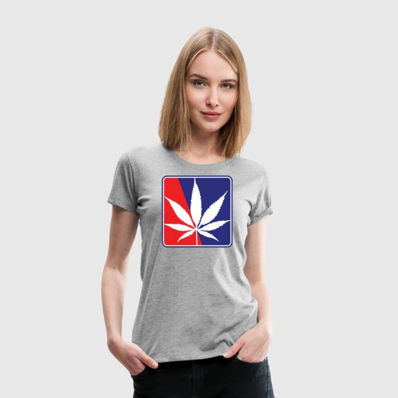 Red White and Blue Pot Leaf - Women's Premium T-Shirt