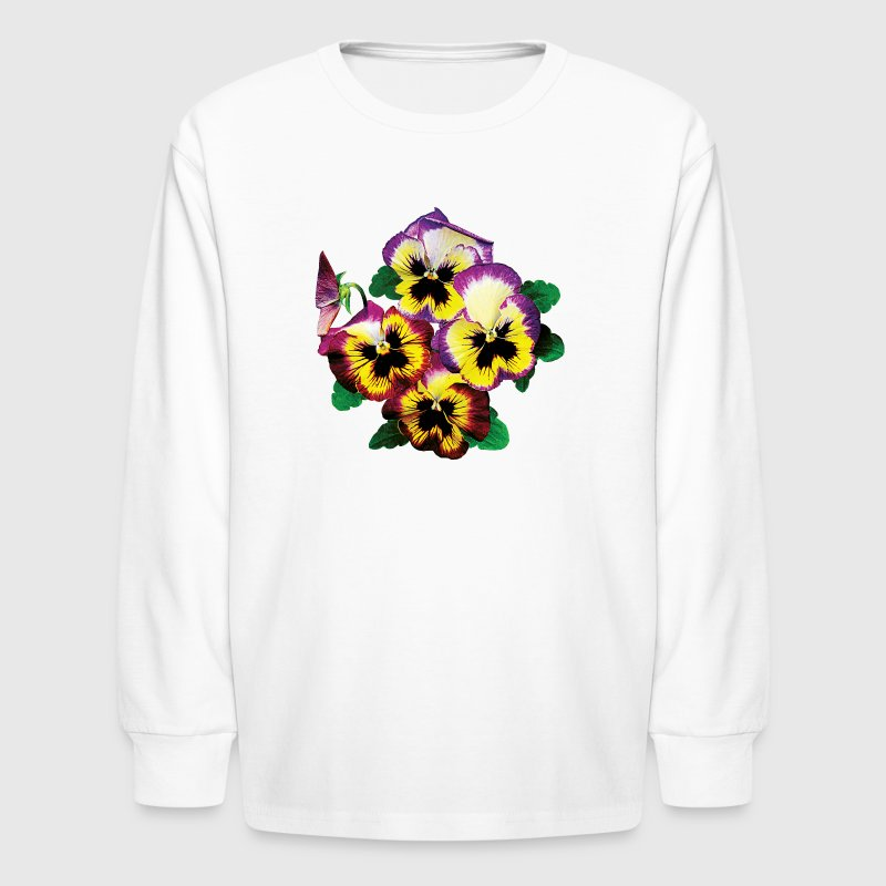Bunch of Pansies Kids' Shirts - Kids' Long Sleeve T-Shirt