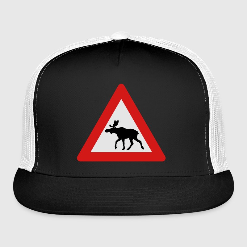 Norwegian Moose Elk Crossing Traffic Sign Sportswear - Trucker Cap