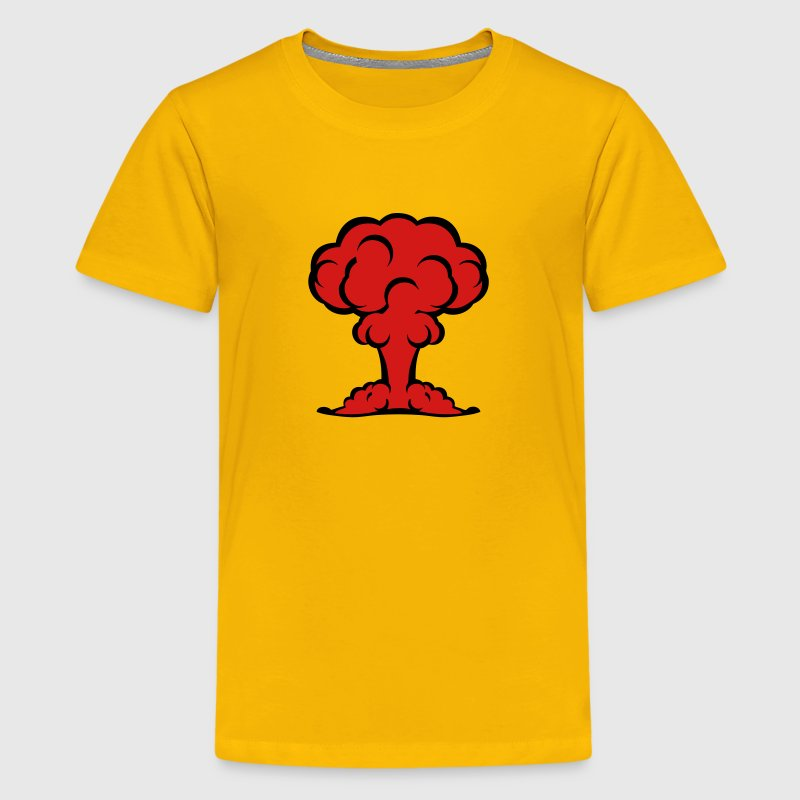 atomic bomb explosion mushroom cloud 506 Kids' Shirts - Kids' Premium T-Shirt