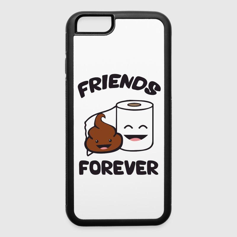 Friends Forever - Poop and Toilet Paper Roll Phone & Tablet Cases - iPhone 6/6s Rubber Case