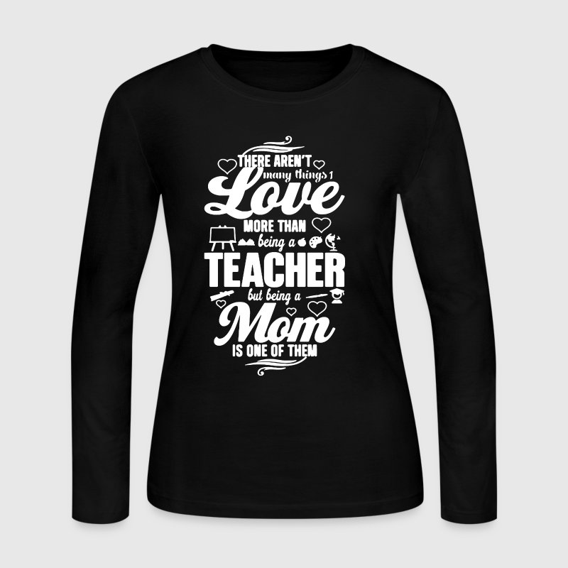 Teacher-Mom Shirt - Women's Long Sleeve Jersey T-Shirt