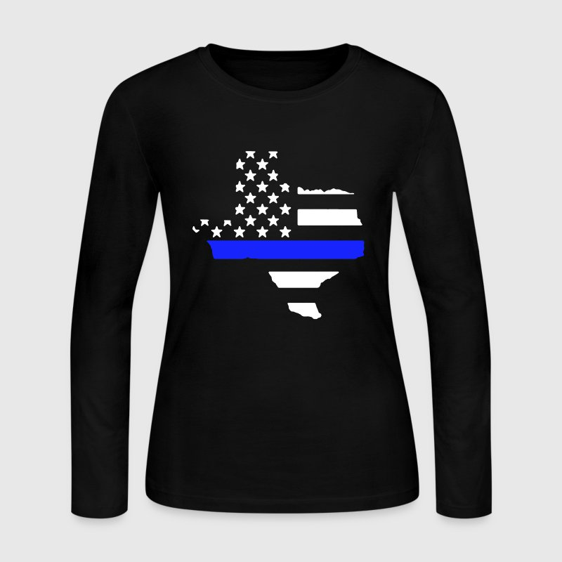 Texas Thin Blue Line - Women's Long Sleeve Jersey T-Shirt