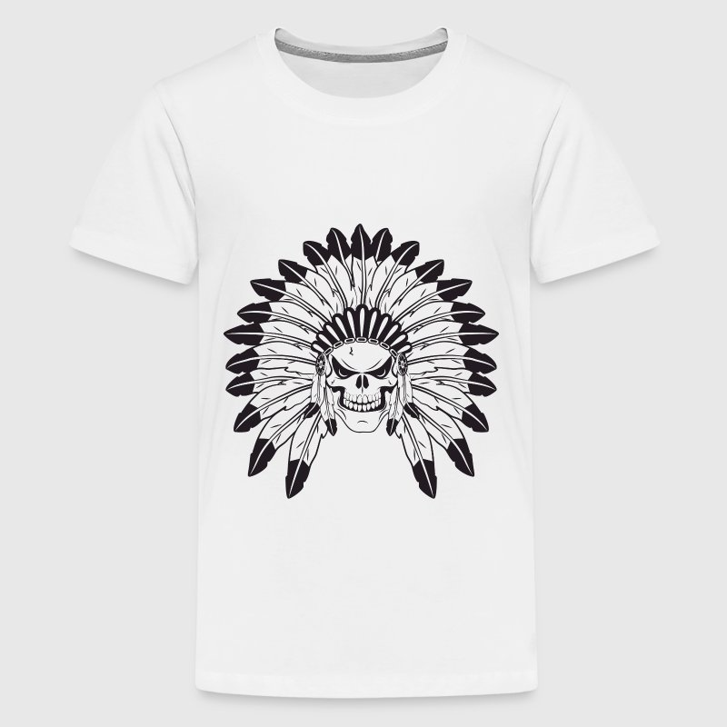 Indian Skull Chief Kids' Shirts - Kids' Premium T-Shirt