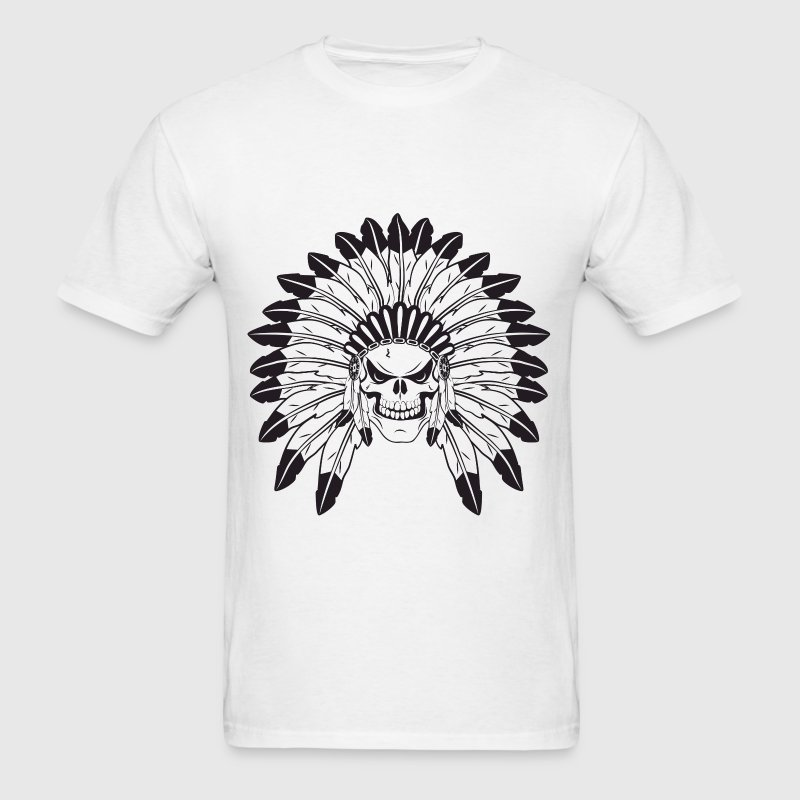 Indian Skull Chief T-Shirts - Men's T-Shirt