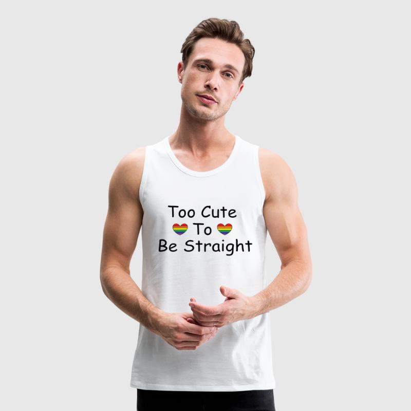 Too cute to be straight Sportswear - Men's Premium Tank