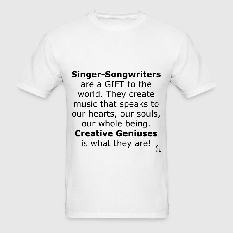 Singer Songwriter T-shirt by Stephanie Lahart - Men's T-Shirt