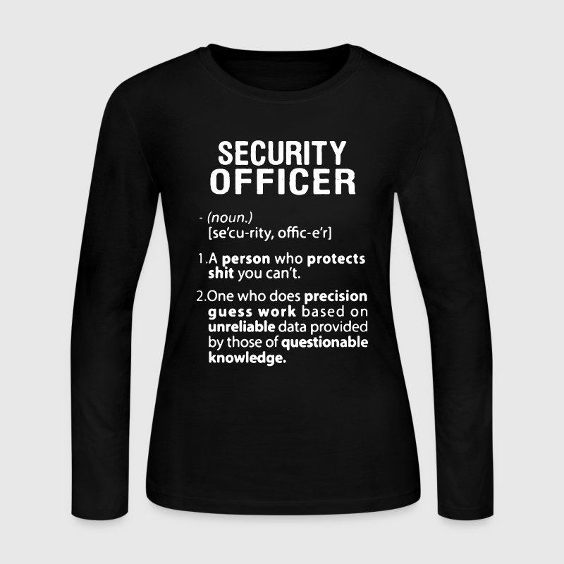 Security Officer - Women's Long Sleeve Jersey T-Shirt