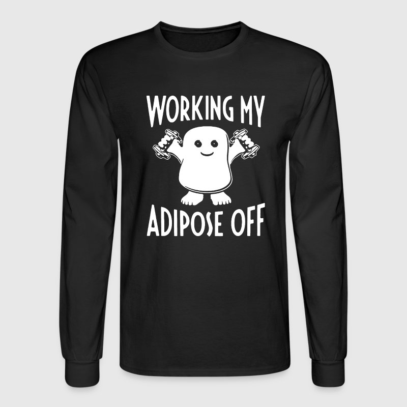 Working Adipose Off - Men's Long Sleeve T-Shirt