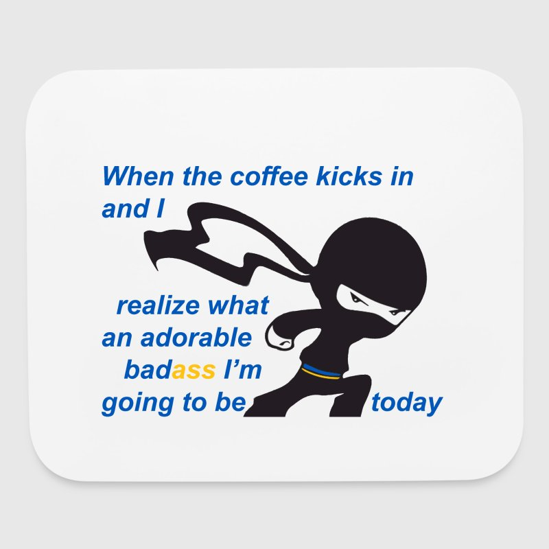 Coffee - Adorable Badass - Mouse pad Horizontal
