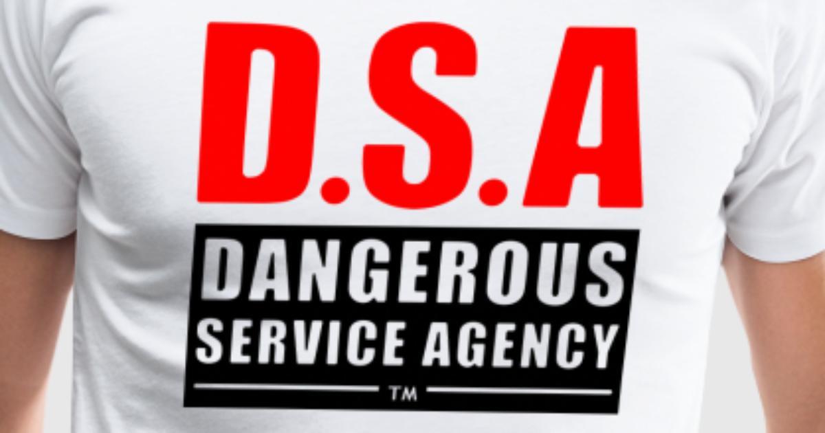D s a dangerous service agency alt t shirt spreadshirt for Service design agency