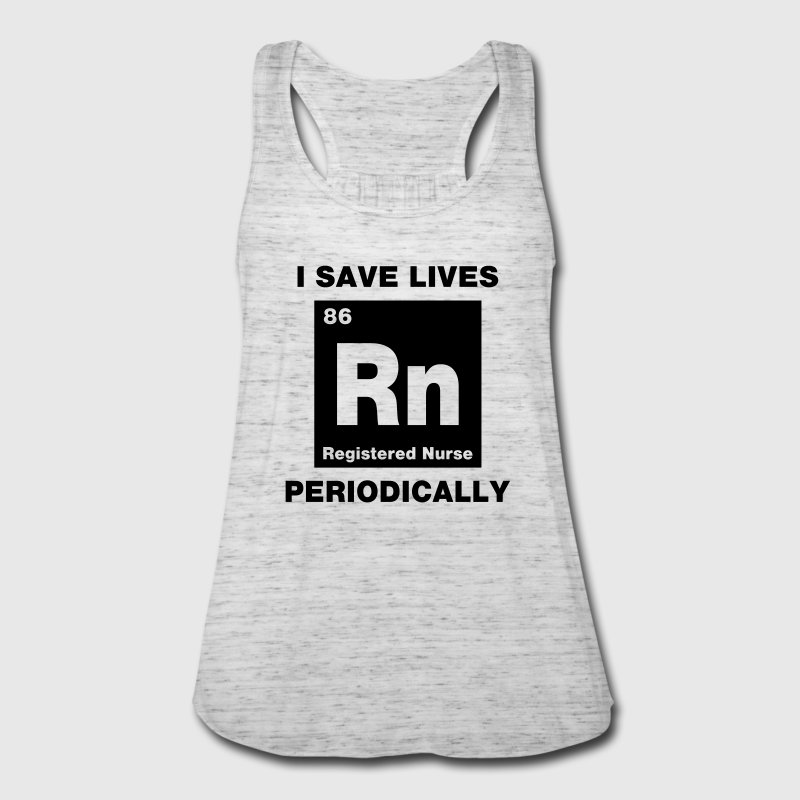 I Save Lives RN Tanks - Women's Flowy Tank Top by Bella