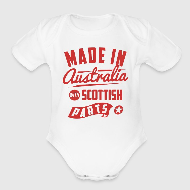 Australian Scottish Baby Bodysuits - Short Sleeve Baby Bodysuit