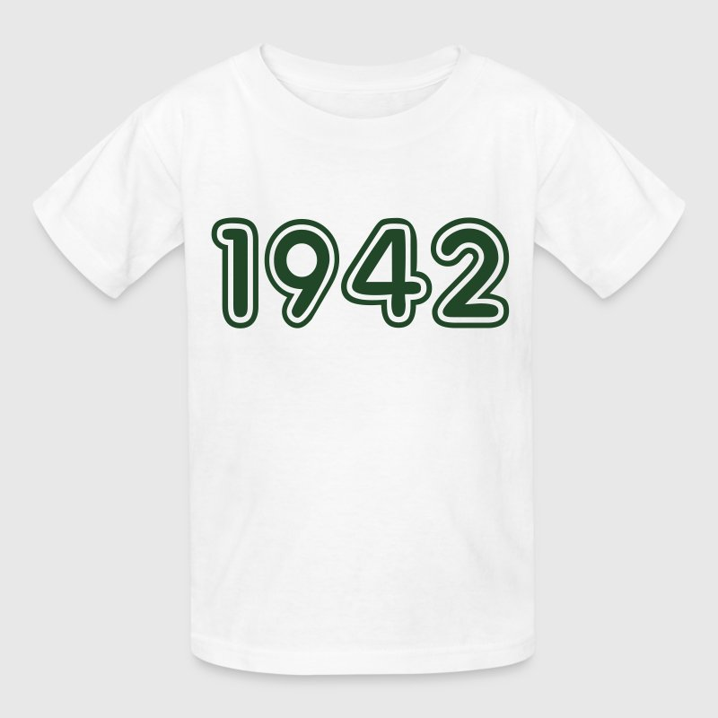 1942, Numbers, Year, Year Of Birth Kids' Shirts - Kids' T-Shirt
