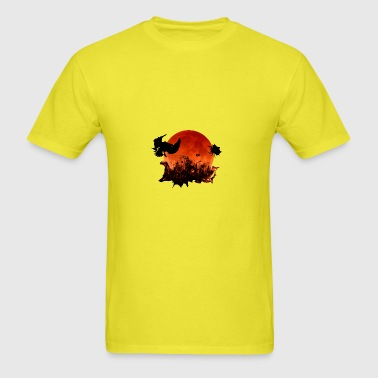 Red Moon Birds Baby Short Sleeve Lemon One Piece - Men's T-Shirt
