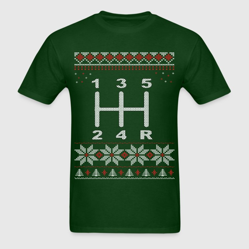 5 Speed Gear Shift Xmas T-Shirts - Men's T-Shirt