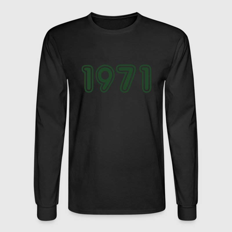 1971, Numbers, Year, Year Of Birth Long Sleeve Shirts - Men's Long Sleeve T-Shirt