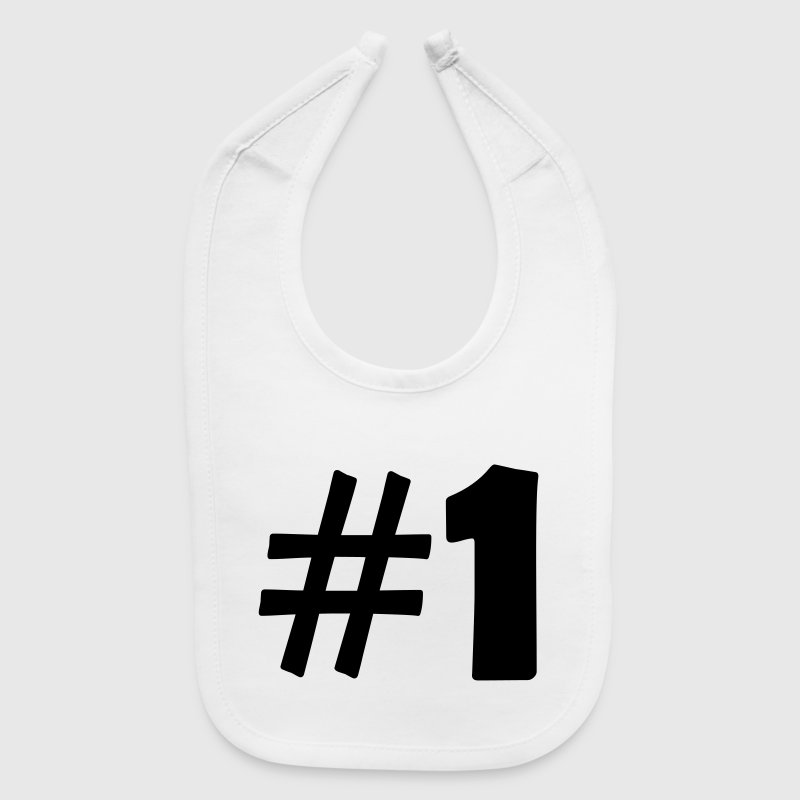 #1 (number one) Baby Bibs - Baby Bib