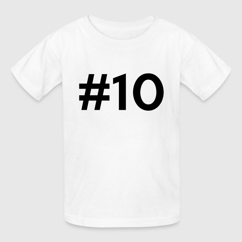 #10 (number ten) Kids' Shirts - Kids' T-Shirt