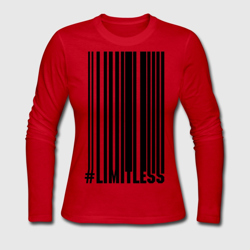 Limitless Barcode - Women's Long Sleeve Jersey T-Shirt