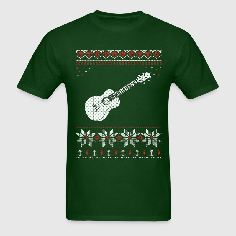 Ukulele Christmas Sweater T-Shirts - Men's T-Shirt